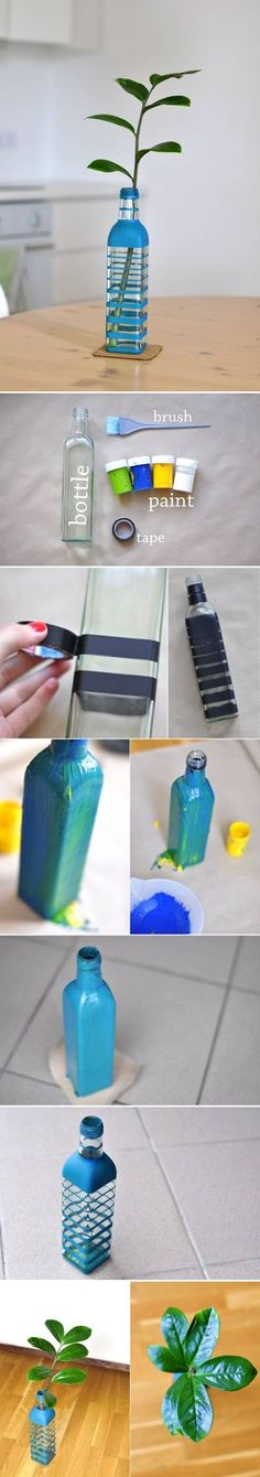How To Make Colored Bottle Vase step by step DIY tutorial instructions How To Make Colored Bottle Vase step by step DIY tutorial instruction...
