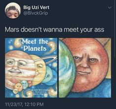 Red planet sick of Earth's shit
