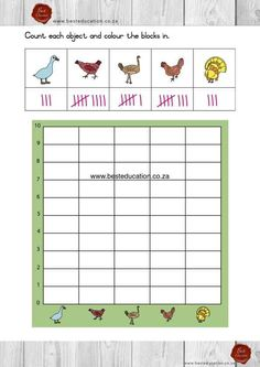Data Handeling - English Maths Grade 1 - www.besteducation.co.za Grade 1, Maths, Worksheets, Coloring, Bible, English, Biblia, The Bible, Literacy Centers
