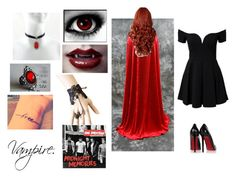 30->Vampire by dimibra on Polyvore featuring Christian Louboutin, Retrò and vampire