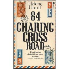 """84 Charing Cross Road by Helene Hanff.   Pinner Janeen Farrell described it so well - """"Friendship born of old books and the kindness of strangers.""""  Lovely story. Bloomsbury, Memoirs, Bibliophile, Books To Read, My Books, Cinema, Anne Bancroft, Sunday Readings, Anthony Hopkins"""