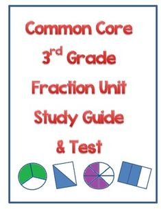 This+fraction+study+guide+and+assessment+is+aligned+with+the+3rd+grade+common+core+standards.++The+students+are+asked+to+compare+fractions,+represent+fractions+on+a+number+line,+and+write+fractions+based+on+a+picture+representation.++Students+are+also+asked+to+answer+questions+that+prove+their+understanding+that+the+size+of+a+fractional+part+is+relative+to+the+size+of+the+whole.