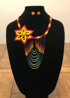Imported directly from Nayarit, Mexico where Mexican artisans weave through the beads in a special and colorful pattern to near perfection! These collections of jewelry are perfect for any occasion and attire. They are uniquely made and no two necklaces or jewelry sets are the same. These pieces are