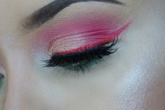 Watermelon inspired makeup. Follow me on Instagram for more looks @_jennymua