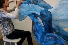 Nuna felted organiza silk sculpture