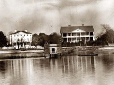 Beaufort, South Carolina. View of Beaufort from the waterfront. 1862