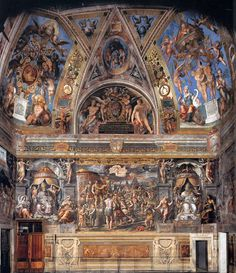 Raphael – Sala di Constantino (1520-1524) at the Vatican Palace.