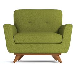 Apt2B Carson Chair Green Apple (£710) ❤ liked on Polyvore featuring home, furniture, chairs, accent chairs, hand made furniture, handmade furniture and handcrafted furniture