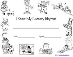58 Best Nursery Rhymes and Vocabulary building images in
