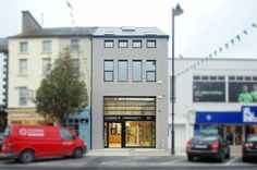 RIAI 2015 Awards Best Sustainable Project: Pharmacy and Apartment in Clonmel Architect: The PassivHaus Architecture Company Architecture Company, Architecture Awards, Residential Architecture, Passive House, Pharmacy, Sustainability, Solar, Custom Design, Multi Story Building