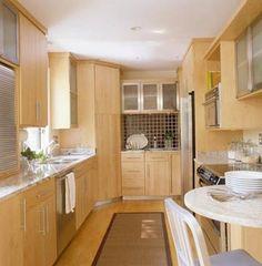 Small Kitchen 5: Maple Galley Kitchen