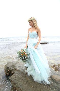 Blue and White Wedding Ideas - http://d6vbooq4y2jme.cloudfront.net/wp-content/uploads/2015/07/Blue-Claire-la-Faye-gown-2.jpg