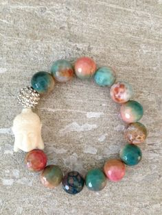 Multi Color Buddha Bracelet by LindsayRaeDesigns on Etsy