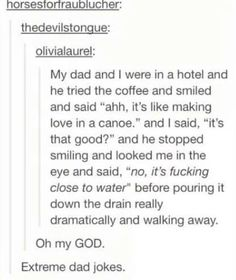 Extreme Dad Joke