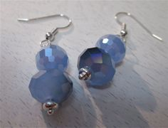 Crystal blue persuasion earrings by WhimsicalSoulDesign on Etsy