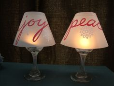 Holiday Vellum Shade for wine glasses set of 2. $5.00, via Etsy.