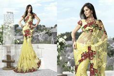 saris | Saris bordadas del desgaste del partido-Ropa de India y Pakistán ...