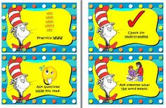 Saylor's Log: Dr. Seuss Daily 5 Cafe Signs