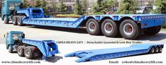 http://www.chinaheavylift.com/lowboy-trailer/  Especially for the transport of high and voluminous loads, where every millimeter loading height counts, but also for high construction machines, extremely low loading platform trailers are in great demand. For these operations CHINA HEAVY LIFT offer the most varied Lowboy – Low loader,  Email : yoko@chinaheavylift.com Tel : +86 137 7422 2241 (Wechat, WhatsApp)