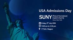 """We look forward to welcome you all for the """"Instant Admissions session"""" drive by SUNY Polytechnic Institute, New York, USA organized at Krishna Consultants, Nagpur for Fall 2017/Spring 2018 Intake."""