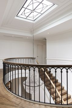 S&A Stairs Canterbury Road Stair Railing Ideas Canterbury Road Stairs Modern Railing, Wrought Iron Stair Railing, Staircase Railings, Staircase Design, Staircases, Entry Stairs, House Stairs, Banister Remodel, Balcony Railing Design