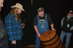 """""""It's an honor to present singer/songwriter & Jack enthusiast, his own branded Jack Daniel's Barrel. Jack Daniels Barrel, Chris Stapleton, Singer, Image, Singers"""