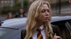 The new student Gabriella arrives - Waterloo Road: Series 9 Episode 11 P. Ackley Bridge, Waterloo Road, Hot Teens, Women Ties, Bbc One, New Students, Private School, Tv Shows, Film