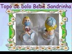 Topo de bolo bebe Sandrinha - prof Jana Gaia - YouTube