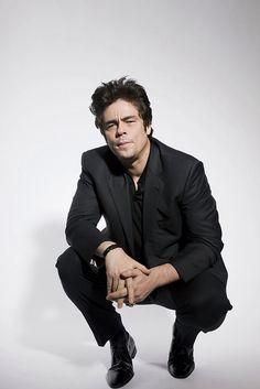 Benicio Del Toro...looks like Brad Pitt, Leo DiCaprio, James Dean, Chris Egan, Taylor Kinney smokin!!
