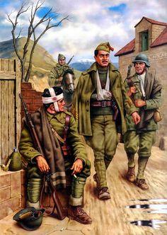 1937 02 Batalla del Jarama -  Soldados nacionales - Ciordia