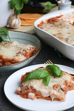 Vegetarische lasagne met geitenkaas bechamelsaus - Beaufood Ricotta, Vegas, Pasta Soup, Vegan Foods, Lasagna, Love Food, Salad, Chicken, Dinner