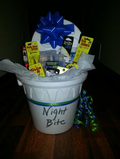 Gift basket for your fisherman.