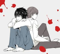 """""""By うゆー ※ Permission to upload this was given by the artist. """"   Death Note   L and Light  """