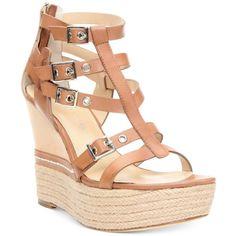Donald J Pliner Women's Taja Platform Wedge Sandals   ❤ liked on Polyvore (see more high heel platform sandals)