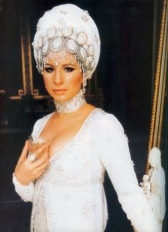 Barbra Streisand in 'On A Clear Day You Can See Forever' (1970). A musical about past lives, the film's Regency era costumes were designed by Cecil Beaton.