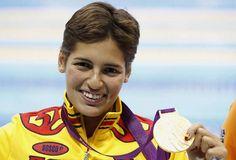 Las chicas de oro españolas: Michelle Alonso. Participó en los  Juegos Paralímpicos de Londres 2012 en Londres , Inglaterra , donde obtuvo una medalla de oro en los 100 metros braza estableciendo un nuevo récord mundial de 1:16.85.