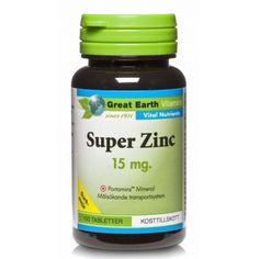 Super Zinc har en unik formula genom det speciella transportsystemet Portamins, för optimalt upptag av mineralen i mag-tarmkanalen.