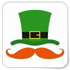 Shop Leprechaun hat funny mustache St Patrick's day Square Sticker created by TheStationeryShop. Saint Patricks Day Art, St Patricks Day Crafts For Kids, St Patrick's Day Crafts, Preschool Crafts, Diy St Patricks Day Decor, March Crafts, St. Patrick's Day Diy, Leprechaun Hats, Leprechaun Pictures