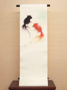 Nature Illustration, Graphic Design Illustration, Japanese Goldfish, Fish Wallpaper, Japanese Aesthetic, Asian Decor, Zen Art, Fish Art, Japanese Artists