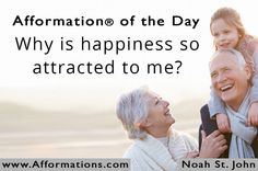 #AfformationoftheDay : Why is happiness so attracted to me?  True happiness is to enjoy the present, without anxious dependence upon the future. #AOTD #noahstjohn #afformations #motivationalquotes #FametoFortuneSummit #affirmations #inspirationalquotes