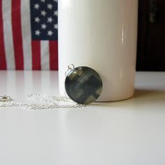 Preserve your loved ones military uniform into a necklace you can wear close to your heart everyday! The Lace Studio