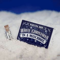 Let it snow with White Christmas In A Matchbox.  wE ARE SORRY BUT THIS ITEM IS WILL NOT BE IN STOCK BEFORE CHRISTMAS This box is the perfect gift for the young and the young at heart. It contains instant snow that expands to 100x its original size – enough to make a mini snowman, decorate your Christmas tree or even have a snowball fight. The box also contains a bottle of angel glitter and beads for decorating your creations, a collector's card, and handy ideas for using your ...