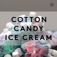 Bring the carnival to you with this cotton candy ice cream