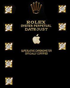 Rolex apple watchface - rolex, datejust, apple, gold, diamonds, bling, vintage, retro, luxury