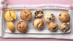 Begin with our basic batter and add your choice of mix-ins from our list of variations below to make blueberry, chocolate chip, bran-raisin, cherry-pecan, or corn muffins.