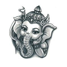 The wide ears that the Elephant-God has, advises humans to understand and seek the truth always. Arte Ganesha, Ganesha Sketch, Ganesha Drawing, Lord Ganesha Paintings, Lord Shiva Painting, Ganpati Drawing, Abstract Pencil Drawings, Cool Art Drawings, Tatuaje Cover Up
