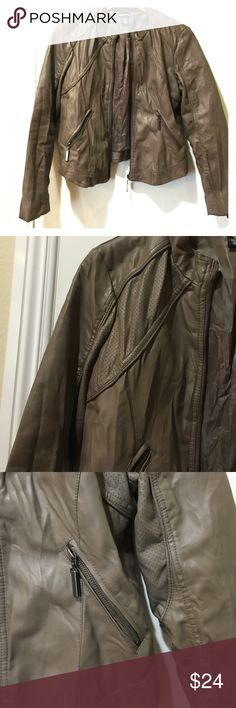 Flash sale today Tan wrinkled style moto jacket Like new only wore it a few  times 6aae7eccc8