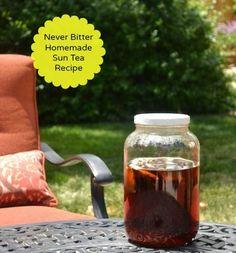 Homemade Sun Tea Recipe ~ This is the perfect way to make sun tea that isn't bitter.
