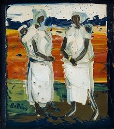 View Limpopo Gossipers By Walter Battiss; Oil on canvas; Access more artwork lots and estimated & realized auction prices on MutualArt. Walter Battiss, South African Artists, Natural Scenery, Top Artists, Van Gogh, Gossip, Oil On Canvas, Auction, History
