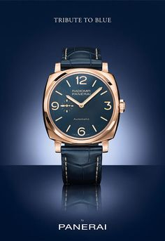 Paneri Radiomir 1940 rose gold - Bucherer Tribute to Blue - Perpetuelle